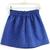 Blue Elastic Waist Embroidered Flare Skirt - abaday.com