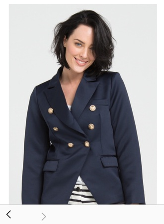 jacket blue blazer with gold buttons