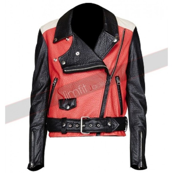 designer fashion jacket women's fashion demi lovato lifestyle celebs motorcycle clothing Leather leather jacket