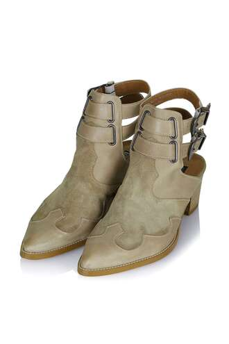 shoes cut out ankle boots buckle boots nude boots ankle boots
