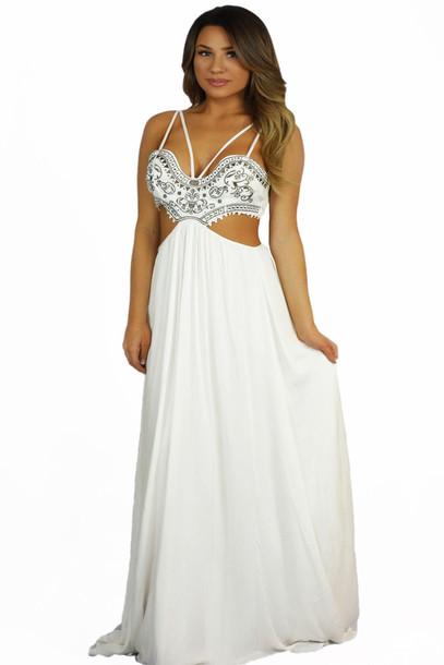 dress, the jetset diaries castello maxi dress, bohemian, boho dress ...