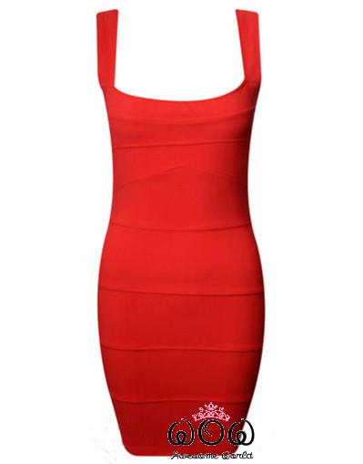 Red bandage dress sexy luxury elegant sale
