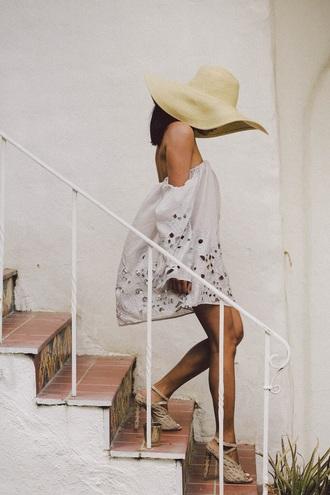 dress boho off the shoulder dress