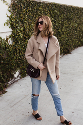 take aim,blogger,coat,shirt,jeans,shoes,bag,sunglasses,streetwear,alexander wang,black sunglasses