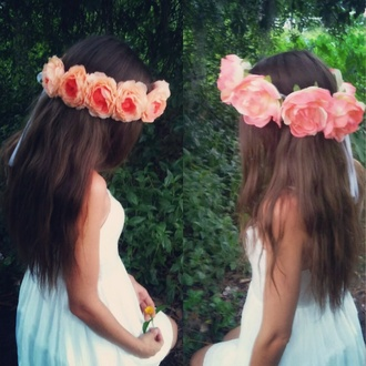 hair accessory flower crown floral hippie coachella flowers pink