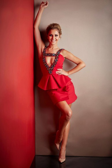 dress red dress cheryl cole