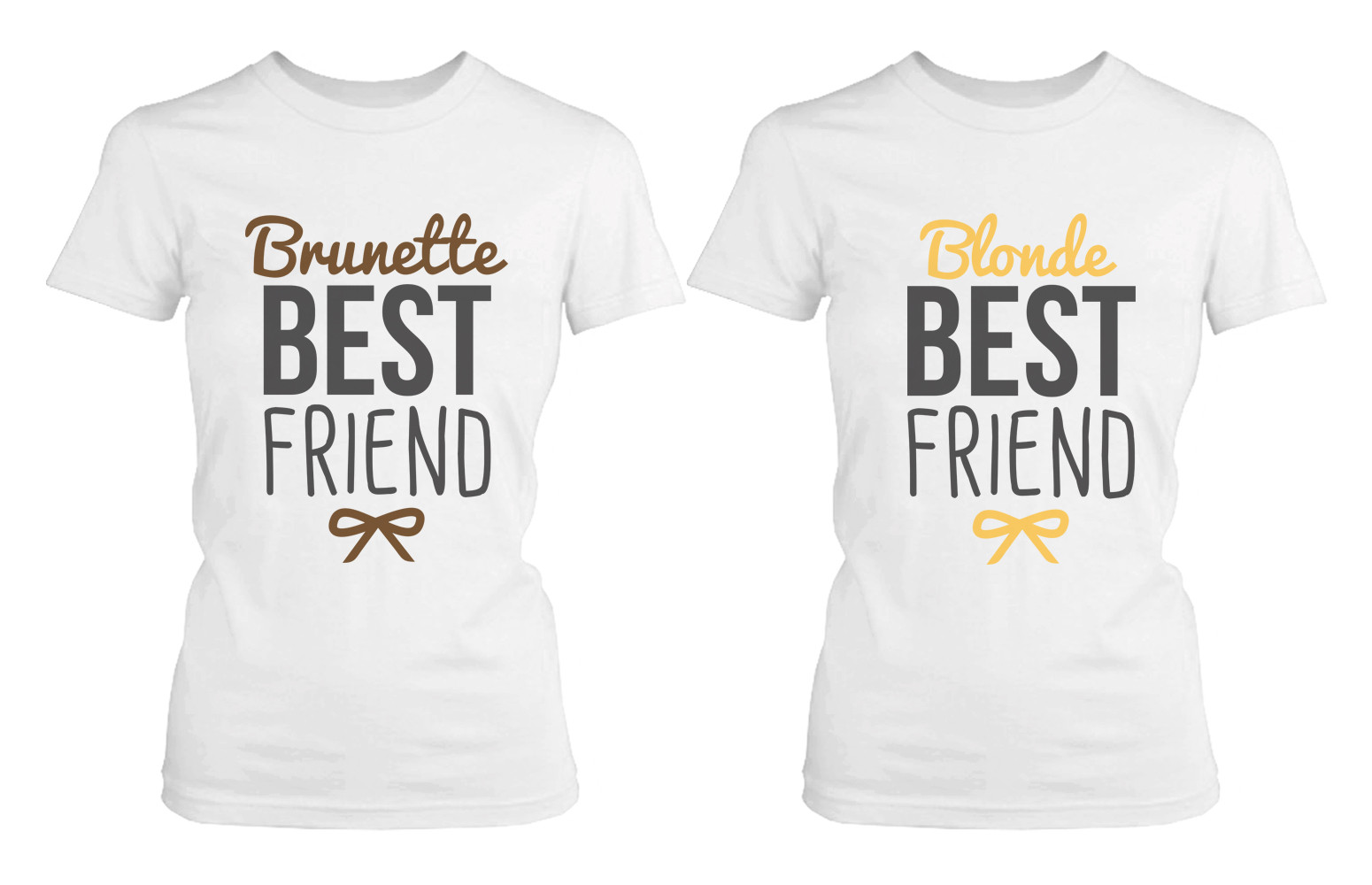 Blonde and Brunette Matching Best Friend Shirts