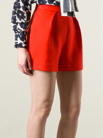 shorts 'nyos' high waisted shorts mother of pearl high waisted shorts orange