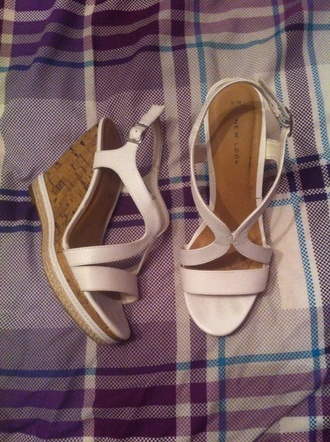 shoes white shoes white wedges summer wedges high heels straps
