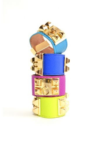 Viktoria Pyramid Leather Bracelet (9 COLORS AVAILABLE) – Glamzelle