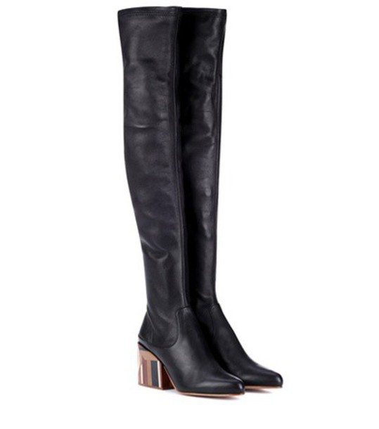 Gabriela Hearst leather boots leather black shoes