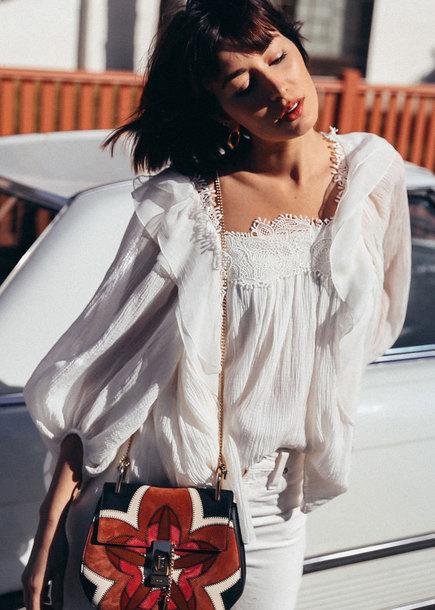 blouse white top bag jeans tumblr white blouse top white denim white jeans