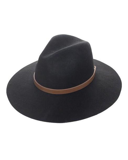 hat fedora black black hat black fedora wool wool hat