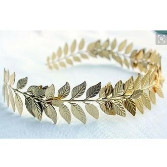 hair accessory crown flowers flower crown gold