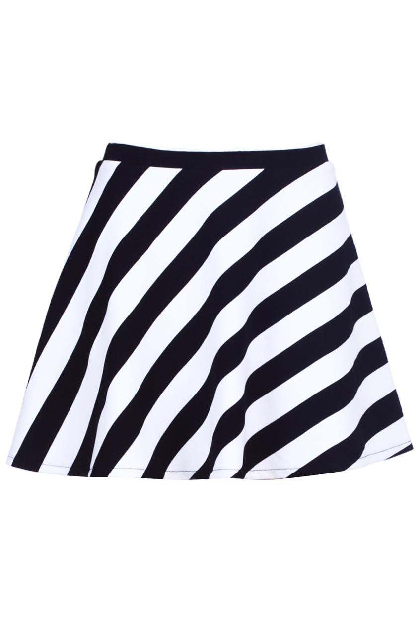 ROMWE | Dual-tone Striped Skirt, The Latest Street Fashion