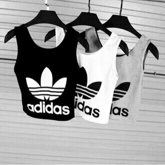 tank top adidas adidas tank top black white grey sportswear fitniss drreamtaker post