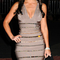 Crystal embellished v neck bandage dress grey
