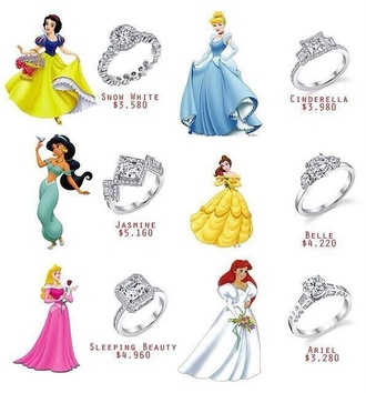 jewels ring marriage wedding ring wedding princess princess rings disney