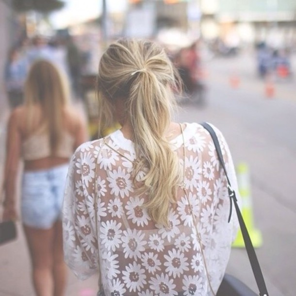 white top see through floral top shoulder bag shirt