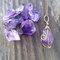 Raw amethyst necklace, pendant, boho necklace, healing stone, bronze, amethyst, pendulum, point, raw, crystal, stone, birthstone, purple