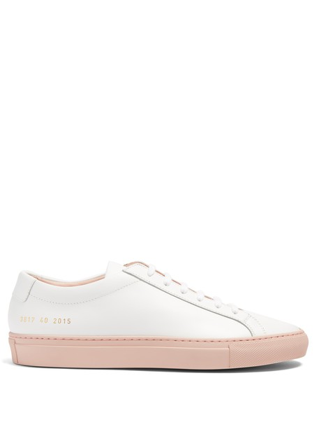 Common Projects top leather white pink