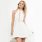 White cutout halter neck a-line women summer casual high low mini dress [ailsa 385] - $16.00 : unique designer women's clothing & dresses shop online now for affordable styles - ailsaclothing.com