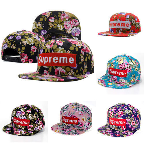 73c9c061304 Women Men Floral Flower Snapback Hip-Hop Hat Supreme Sun ...