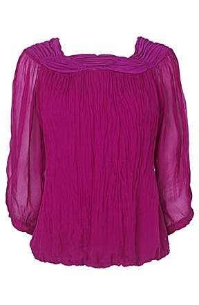 Phase eight short sleeve gypsy blouse pink