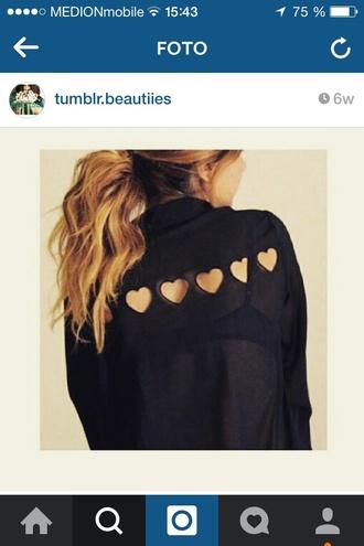 blouse black blouse
