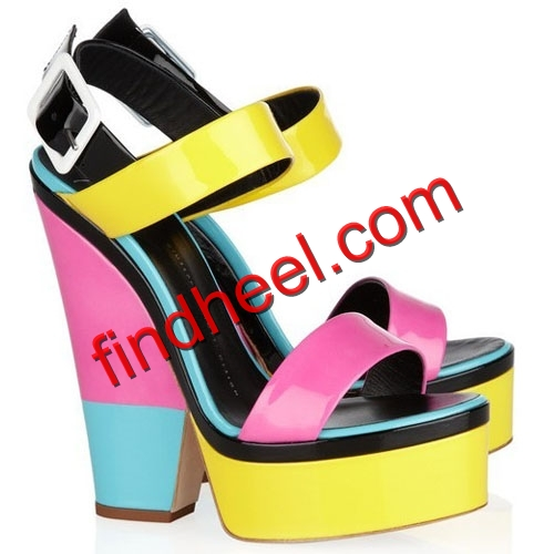 Giuseppe Zanotti Colorblock Patent Leather Sandals - $130.00 : Christian Louboutin Shoe Outlet,Jimmy Choo Shoe Outlet Sale online,best quality!