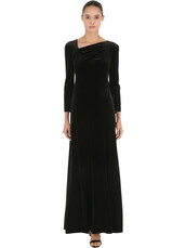 dress,long dress,long,velvet,black