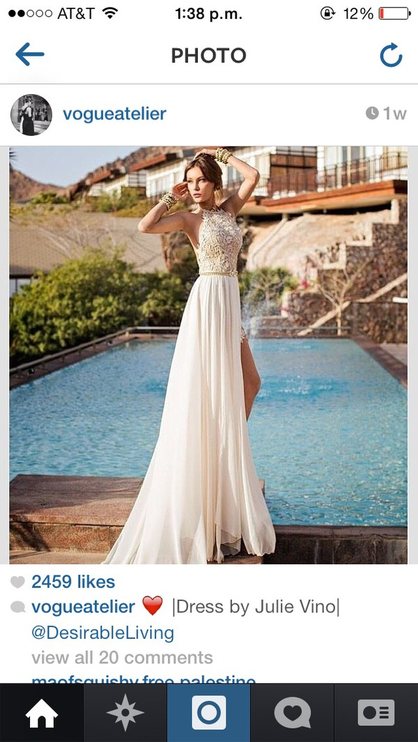 white dress gold sequins formal dress