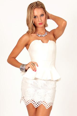 Take It Bustier in White | Foxx Foe