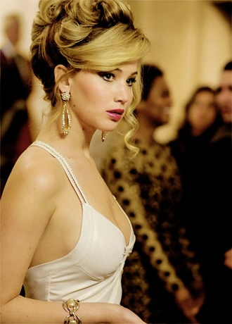earrings jewels gold jennifer lawrence