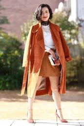 fetish tokyo,blogger,coat,top,skirt,jewels,bag,shoes,fall outfits,fall colors,mini skirt,high heel pumps,pumps