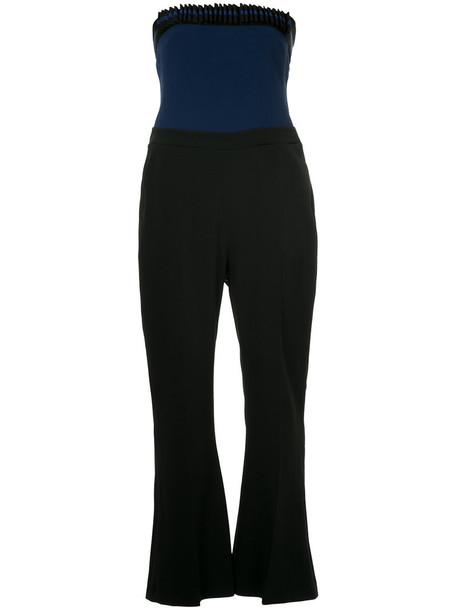 david koma jumpsuit strapless women spandex black