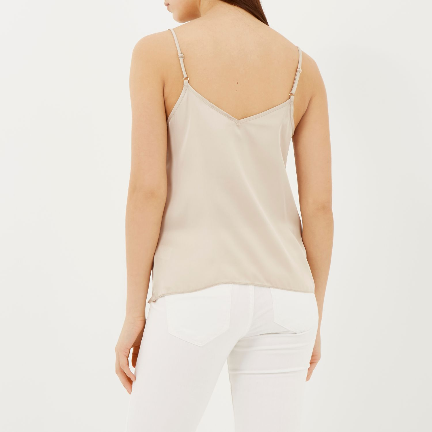 Beige strappy cami top