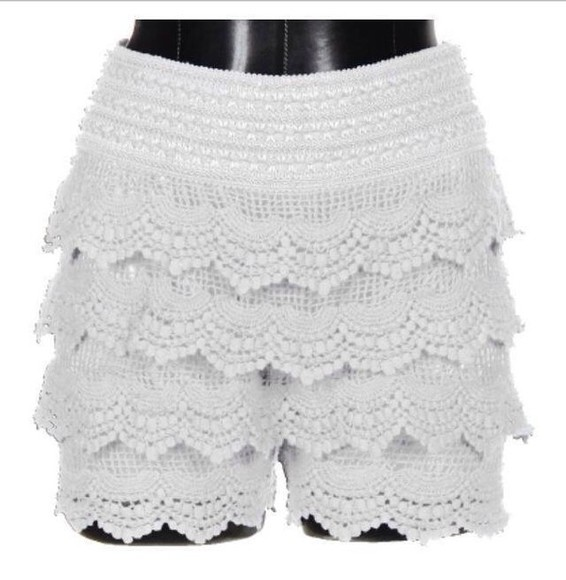 shorts crochet shorts white lace shorts white crochet shorts spring trends 2014 clothing boutique