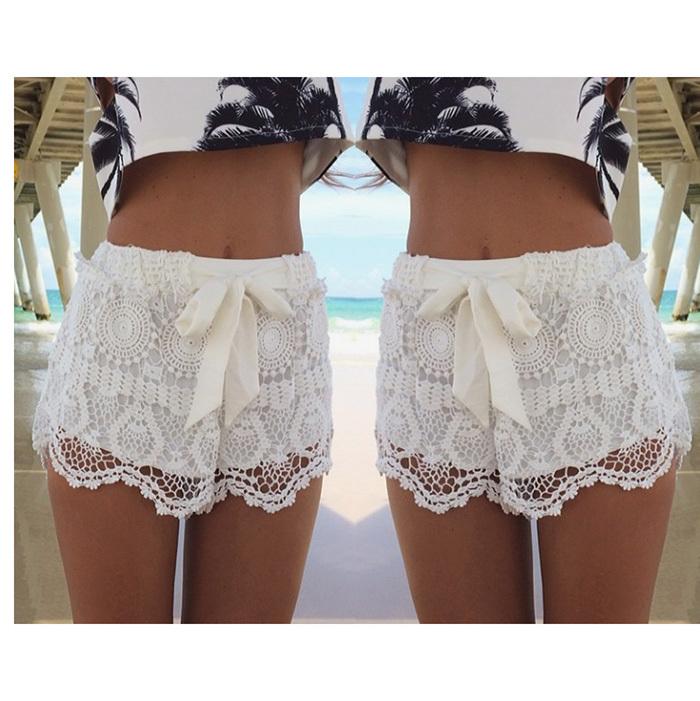 Summer Hot Sale Designer Brand White/blue Floral Crochet Lace ...