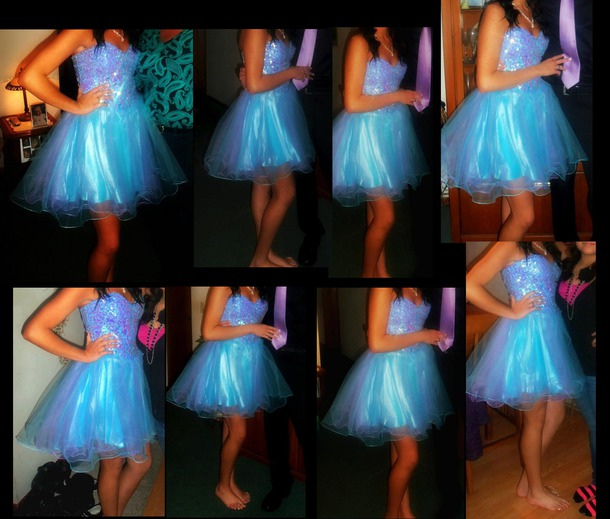 dress blue dress blue prom dress homecoming dress short dress prom tulle skirt elegant gorgeous strapless dress homecoming tulle dress beautiful