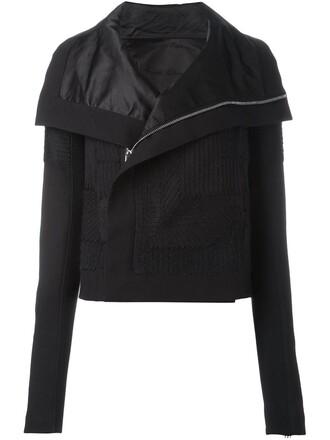 jacket biker jacket embroidered black