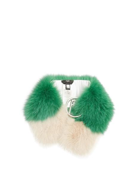fur scarf fur scarf green