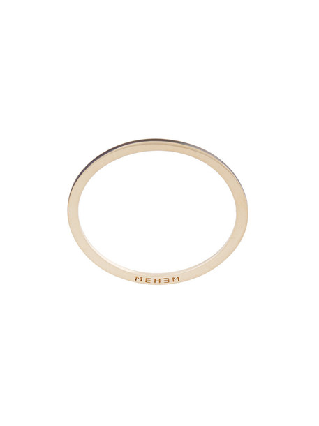 Mehem women ring gold yellow grey metallic jewels