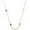 Sapphire, ruby, emerald & gold twister necklace