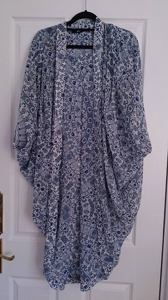 cardigan kimono sportsgirl kimono blue floral kimono kaftan blue floral floral kimono blue and white floral white and blue floral sportsgirl