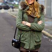 jacket,parka,green,coat