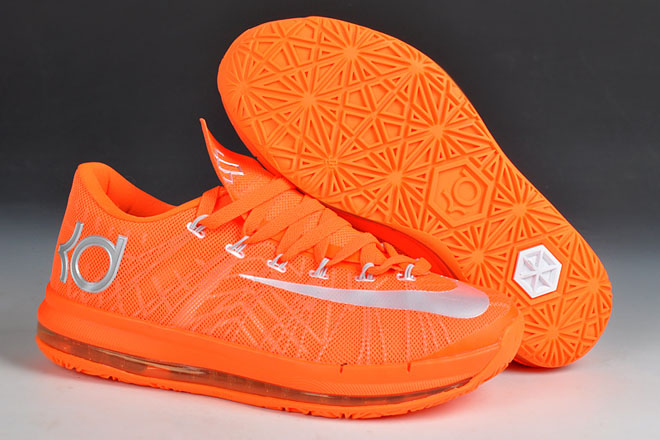 e11289e2c9eb Nike Zoom KD VI 6 Elite Orange Kevin Durant Mens Shoes
