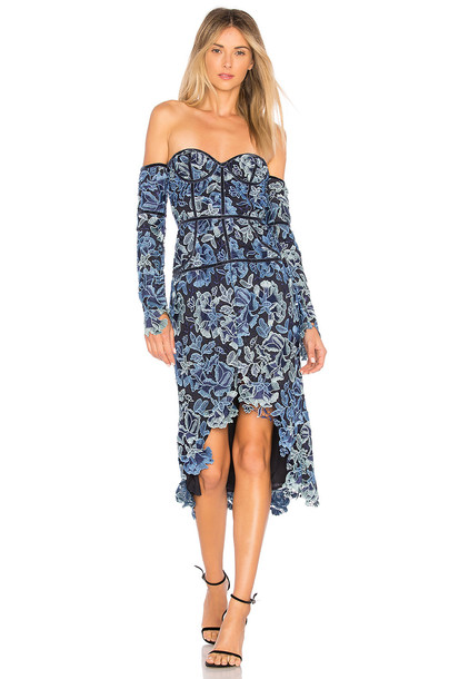 X BY NBD dress blue
