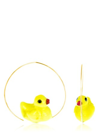baby earrings yellow jewels