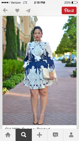 dress bold print curvy plus size dress